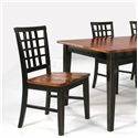 Intercon Arlington Lattice Back Side Chair - Item Number: AR-CH-185-XXX-RTA
