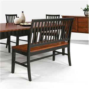 Intercon Arlington Slat Back Side Bench