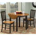Intercon Arlington 3Pc Drop Leaf Dinette - Shown with One Drop Leaf Down