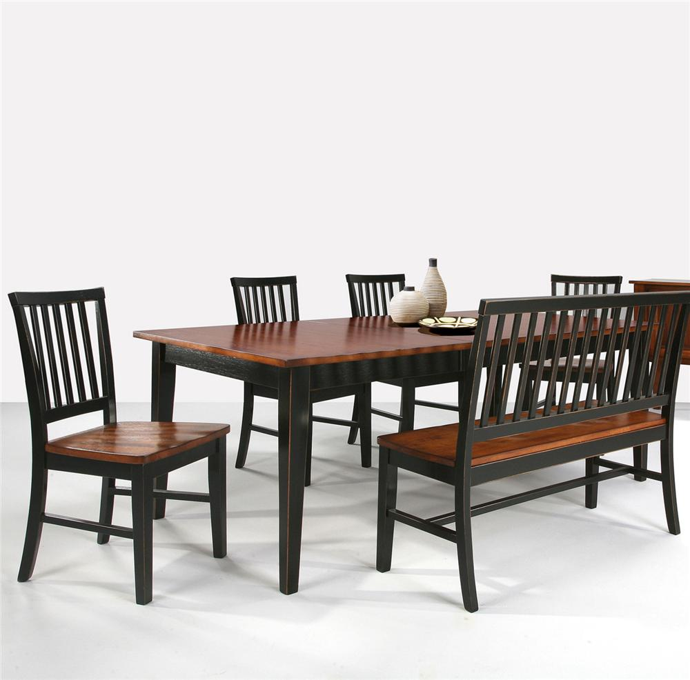 Intercon Arlington Four Shaker Leg Dining Table - Item Number: AR-TA-4278