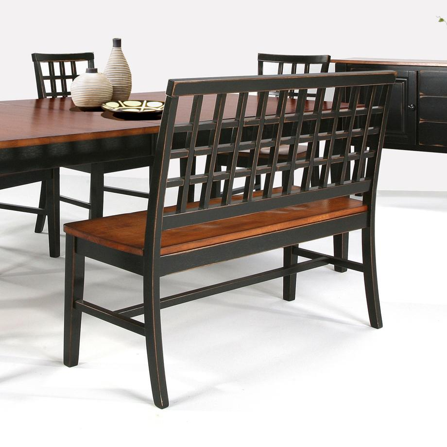 Dining Room Bench Seating With Backs: Intercon Arlington Dining Table With Lattice Back Bench
