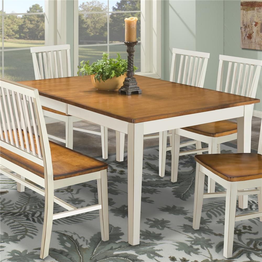Intercon Arlington Four Shaker Leg Dining Table - Item Number: AR-TA-4278-XXX-C-WHJ