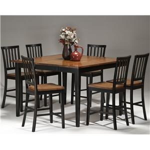 Intercon Arlington Gathering Table & Bar Stool Set