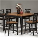 Intercon Arlington Four Leg Gathering Table  - Item Number: AR-TA-5454G-XXX-TOP+BSE