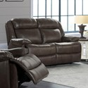 Intercon Avalon Dual Power Reclining Loveseat - Item Number: AN-LS-263DPR-LT2-C