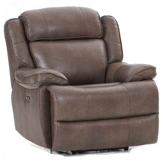 Avalon Dual Power Recliner by Intercon at Rife's Home Furniture