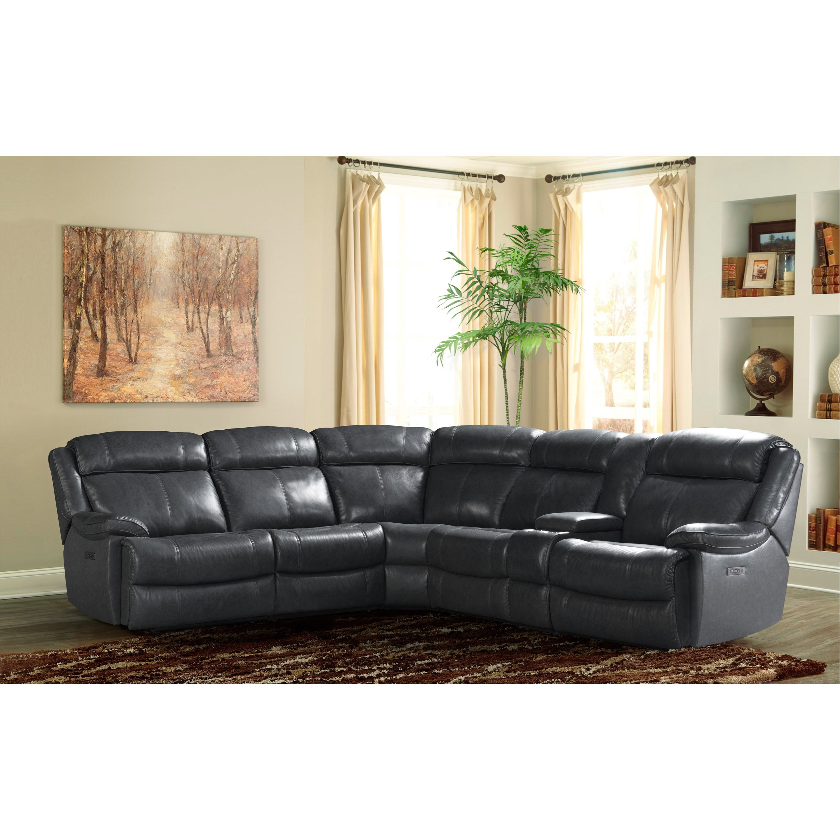 Avalon Dual Power Reclining Sectional Sofa by VFM Signature at Virginia Furniture Market