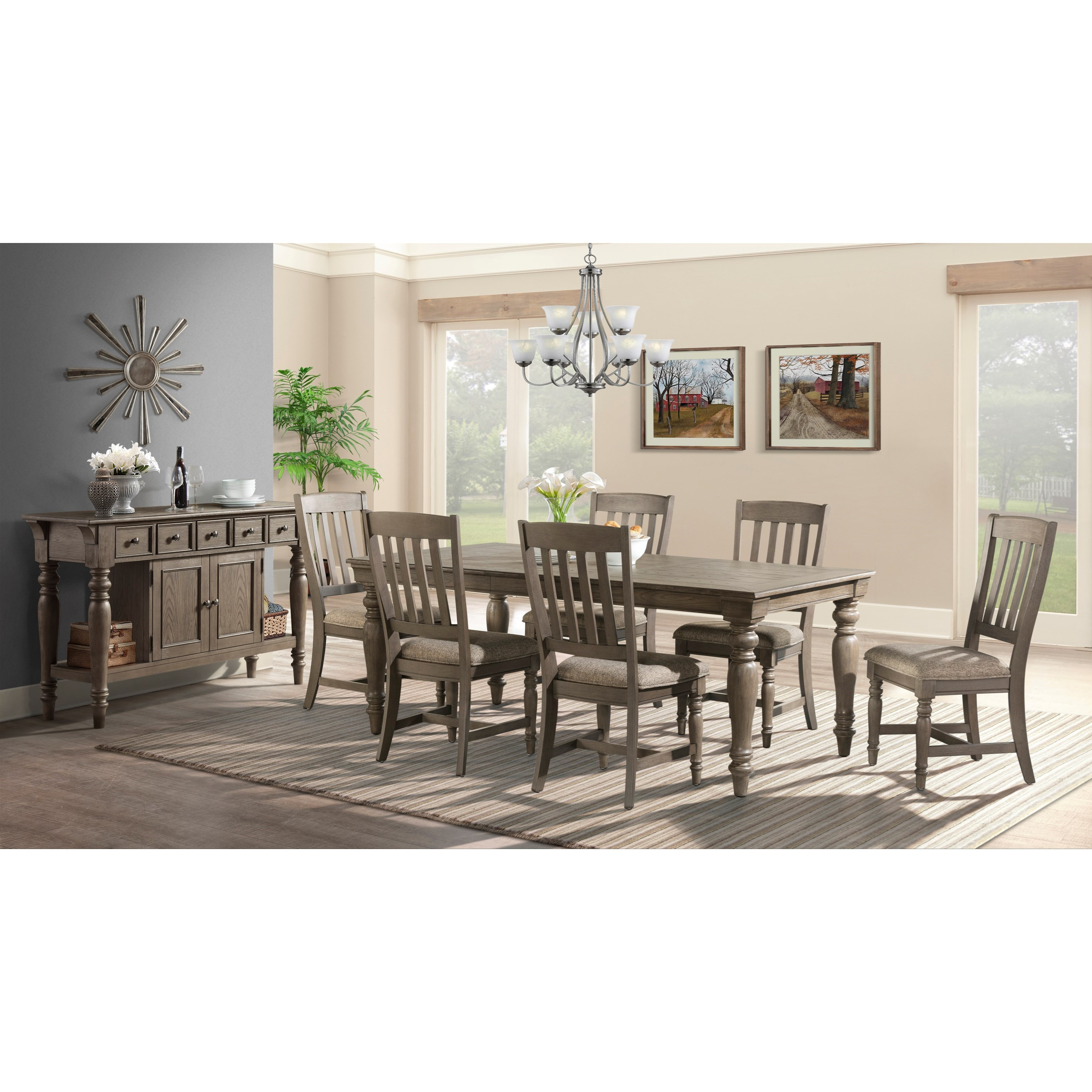 Dining Room Tables San Diego: Intercon Balboa Park Transitional 7 Piece Dining Set