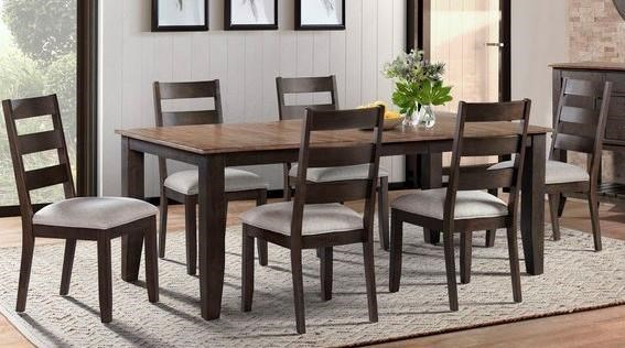 Beacon 7-Piece Table and Chair Set by VFM Signature at Virginia Furniture Market