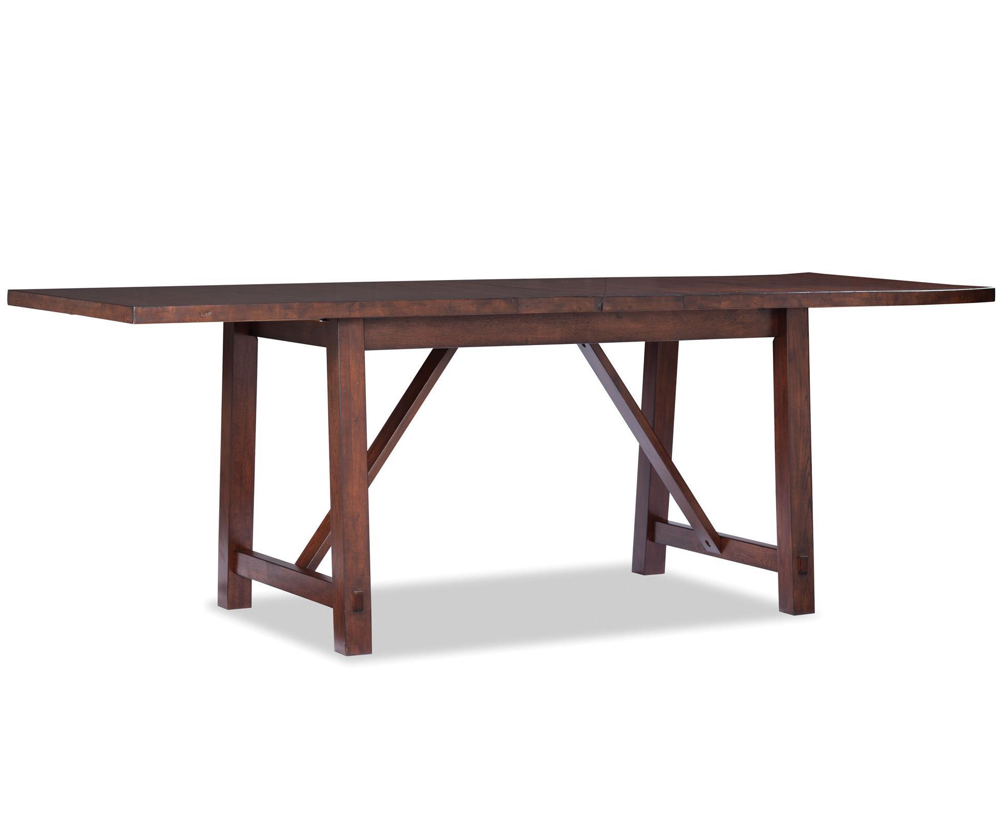 Intercon Bench Creek Gathering Table - Item Number: BK-TA-36104F-RPN-BSE+TOP