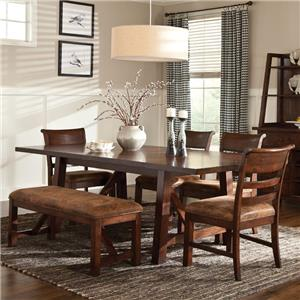 Intercon Bench Creek 6-Piece Dining Set
