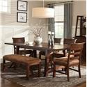 Intercon Bench Creek 6-Piece Dining Set - Item Number: BK-TA-40104+4x789C+4616B
