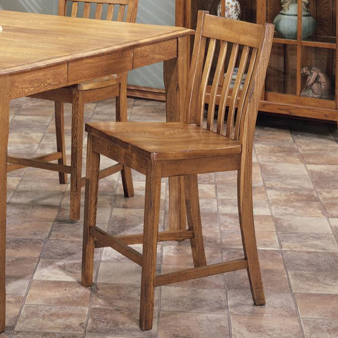 "Intercon Cambridge 24"" Slat Back Barstool - Item Number: CB-BS-N260-RUS-K24"