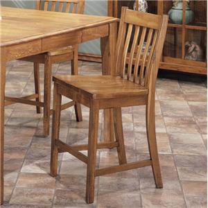 "Intercon Cambridge 24"" Slat Back Barstool"