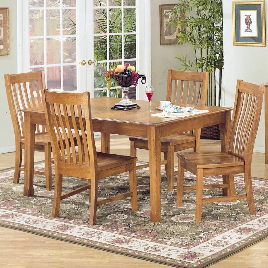 Intercon Cambridge 5 Piece Rectangular Dining Table Set - Item Number: CB-TA-4278+4xCB-CH-N260-RUS-RTA
