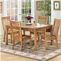 Intercon Cambridge 5 Piece Rectangular Dining Table and Side Chair Set