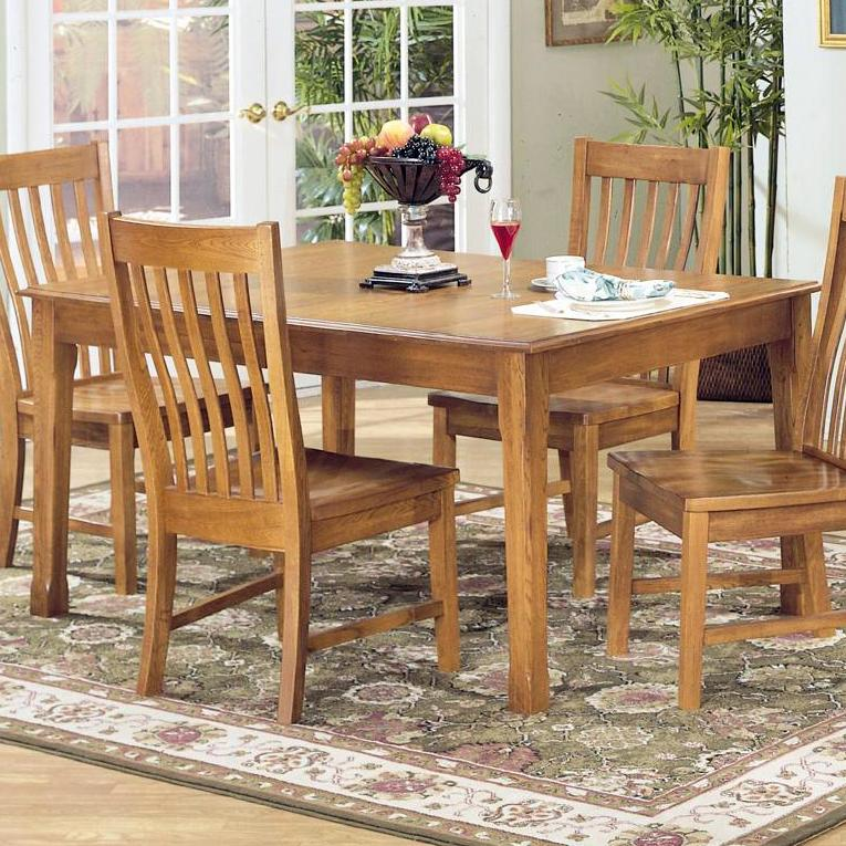 Intercon Cambridge Solid Oak Top Table - Item Number: CB-TA-4278-RUS-C