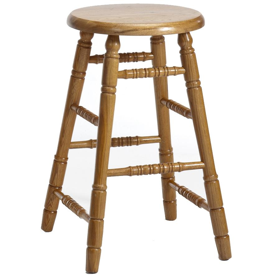 "Intercon Classic Oak 30"" Backless Stool - Item Number: CO-BS-14-CNT-C30"