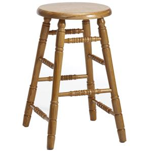 "Intercon Classic Oak 30"" Backless Stool"