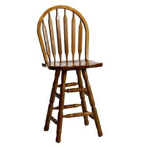 "Intercon Classic Oak 30"" Turned Arrow Back Stool"