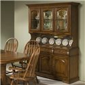 Intercon Classic Oak China Hutch and Buffet - Item Number: CO-CA-3050-BRU-BSE+TOP