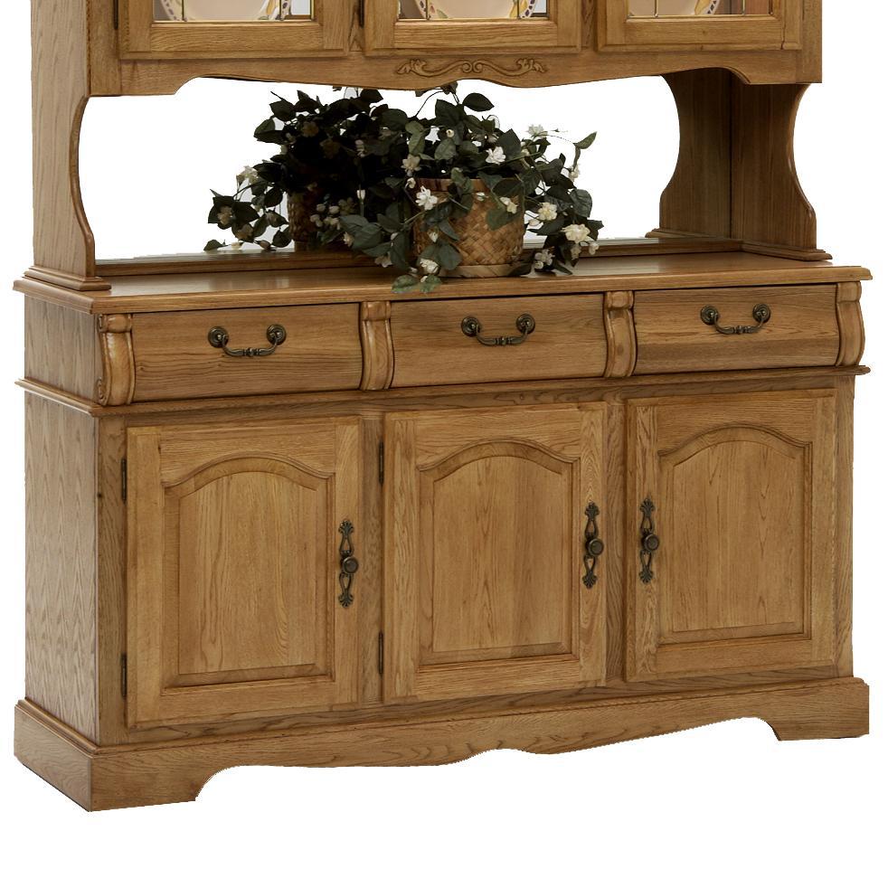 """Intercon Classic Oak 3-Door, 3-Drawer 60"""" Buffet - Item Number: CO-CA-3050-CNT-BSE"""