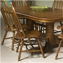 Intercon Classic Oak Dining Side Chair - Item Number: CO-CH-247SH-BRU-SU