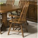 Intercon Classic Oak Dining Arm Chair - Item Number: CO-CH-247SHA-BRU-SU