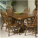 Intercon Classic Oak Trestle Table - Item Number: CO-TA-I4296-BRU-BSE+TOP
