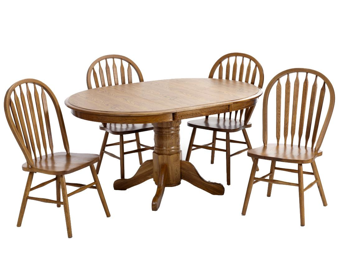 Intercon Classic Oak 5Pc Formica Top Dinette - Item Number: CO-TA-L4260-CNT-BSE+TOP+4x253SH