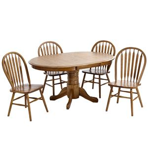 Intercon Classic Oak 5Pc Formica Top Dinette