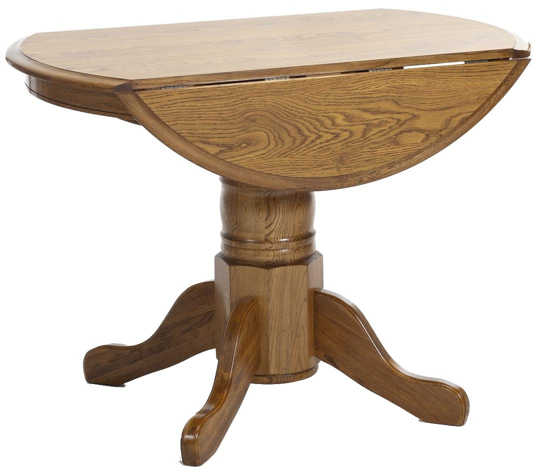 Intercon Classic Oak 42 Pedestal Table With Drop Leaves Furniture Options New York Dining