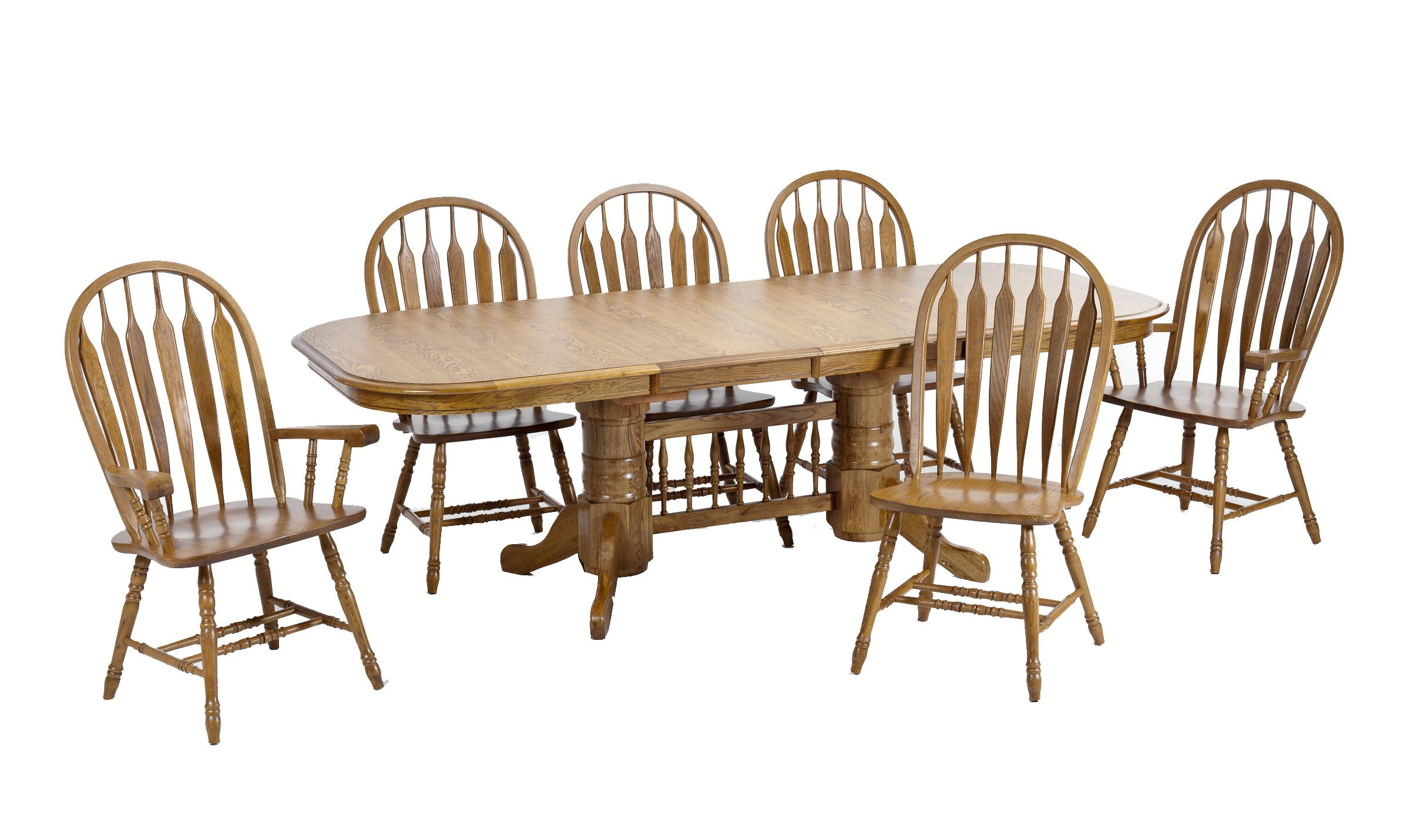 Intercon Classic Oak 7Pc Formica Top Dining Room - Item Number: L4296-CNT-BSE+TOP+2x247SHA+4x247SH