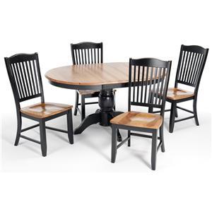 Intercon Custom Dining Customizable 5-Piece Oval Table Set