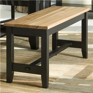 Intercon Custom Dining Backless Dining Bench w/ Wood Seat