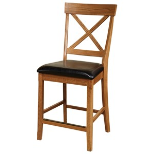 "Intercon Family Dining 24"" Bar Stool with X-Back"