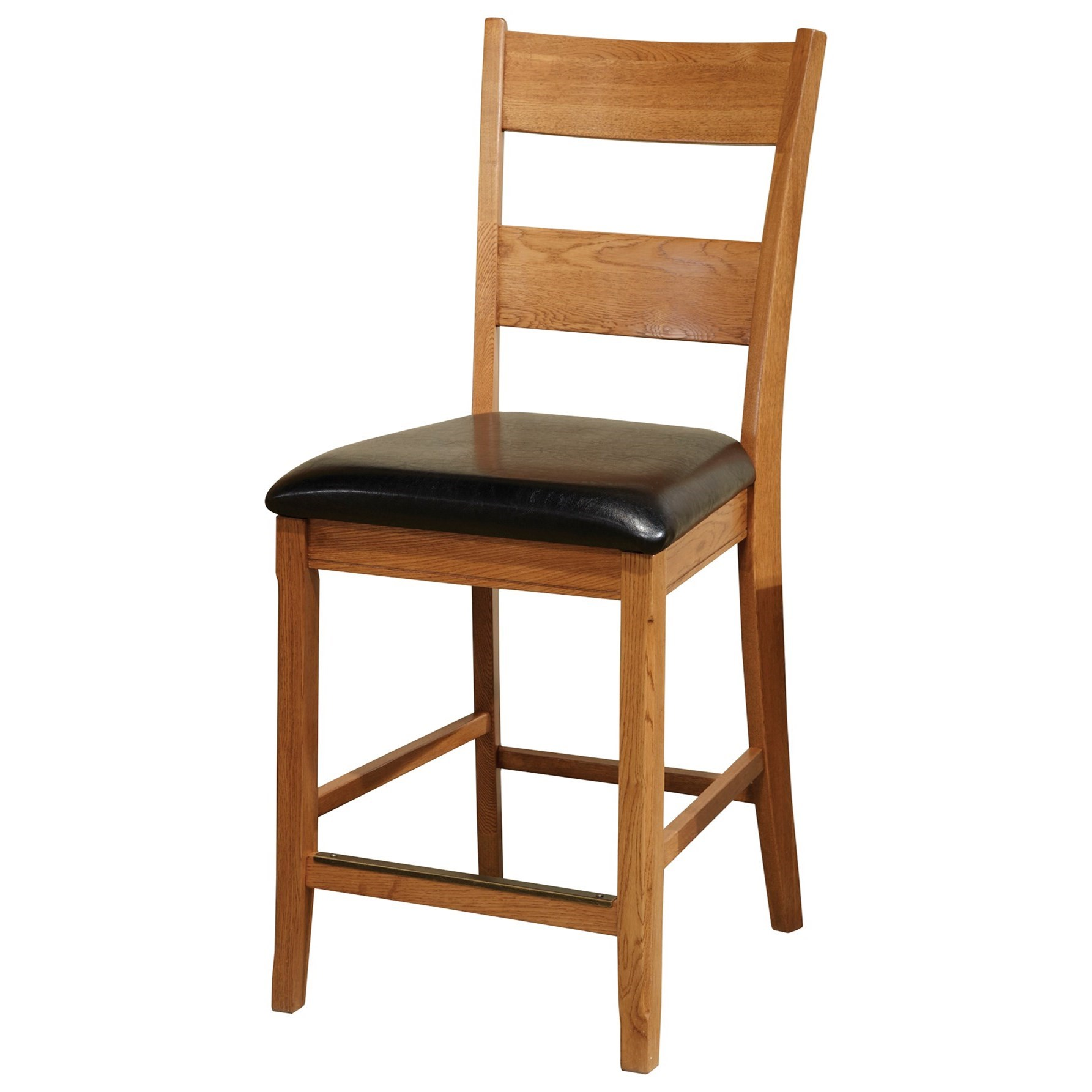 """Intercon Family Dining 24"""" Bar Stool with Ladder Back - Item Number: FD-BS-169C-CNT-K24"""