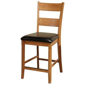 "Intercon Family Dining 24"" Bar Stool with Ladder Back"