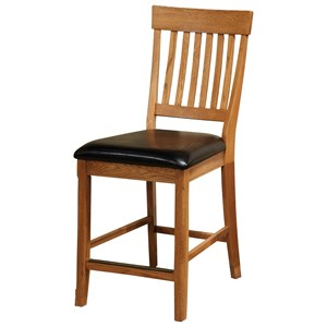 "Intercon Family Dining 24"" Bar Stool with Slat Back"