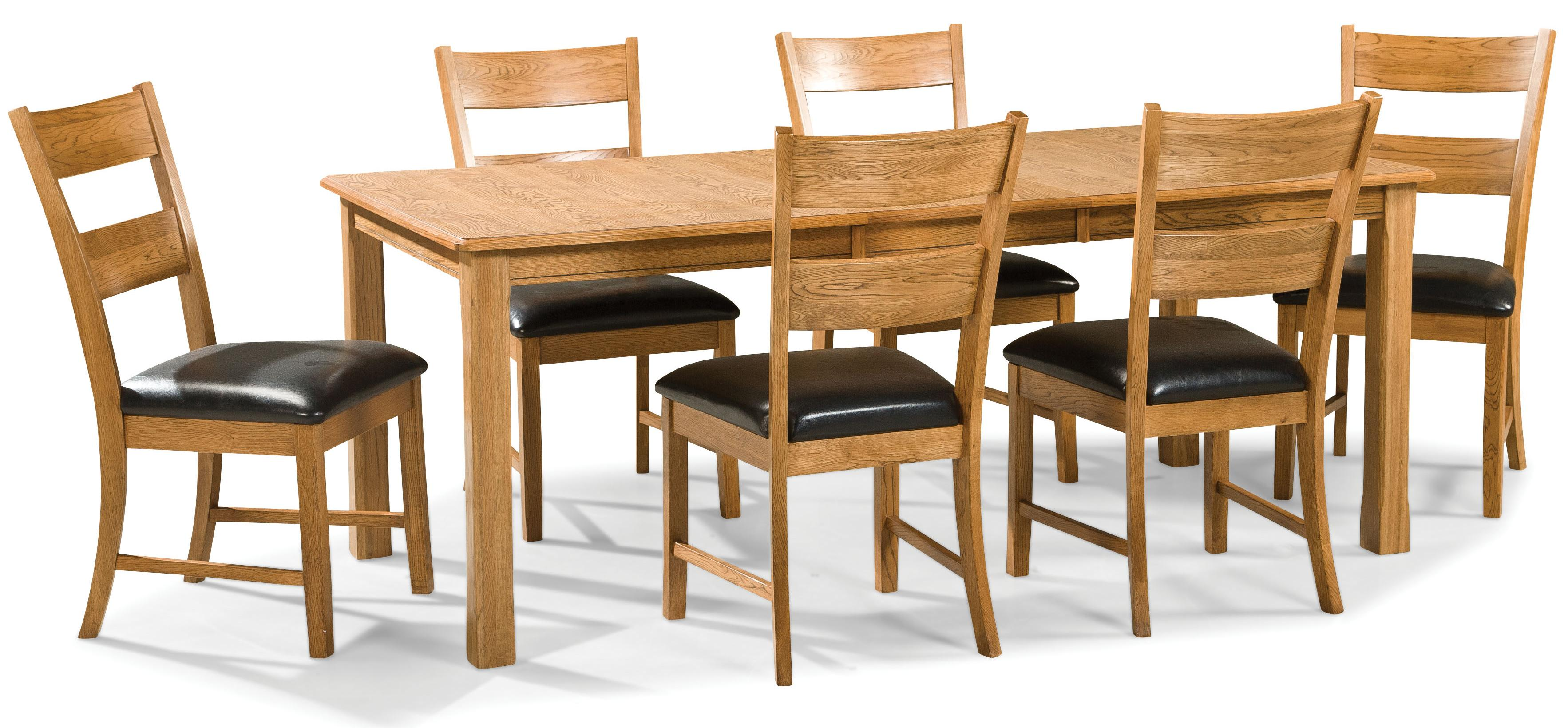 Intercon Family Dining 7 Piece Dining Set - Item Number: FD-TA-L3678-CNT-C+6xCH-169C