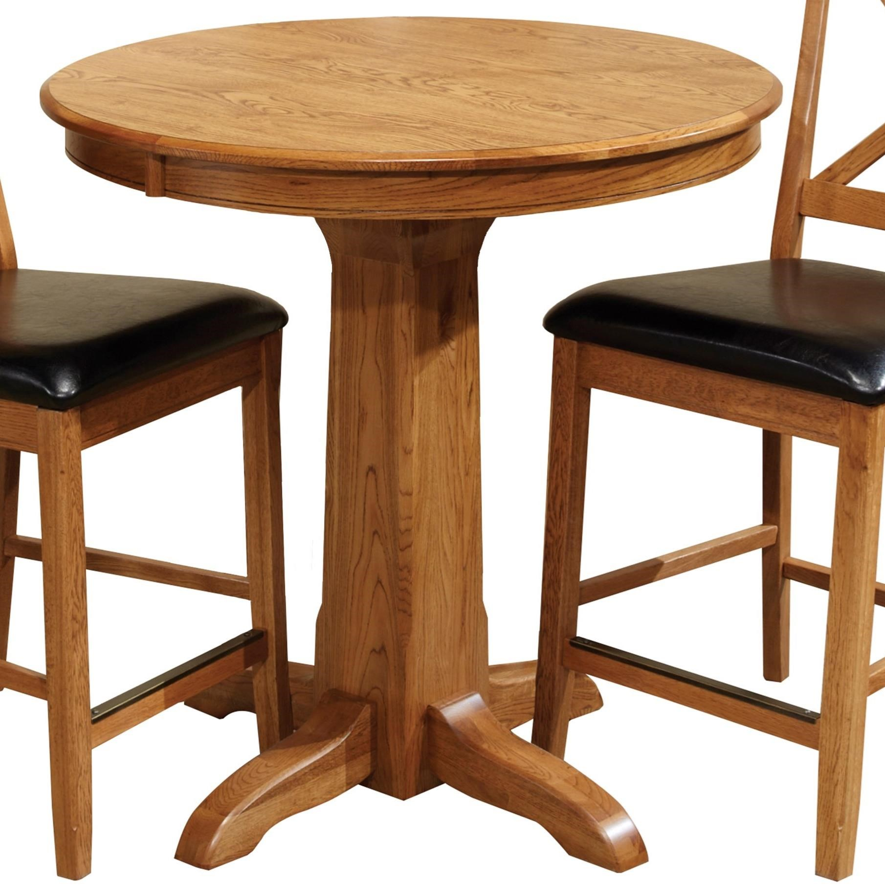Intercon Family Dining Round Counter Table - Item Number: FD-TA-L36GS-CNT-BSE+TOP