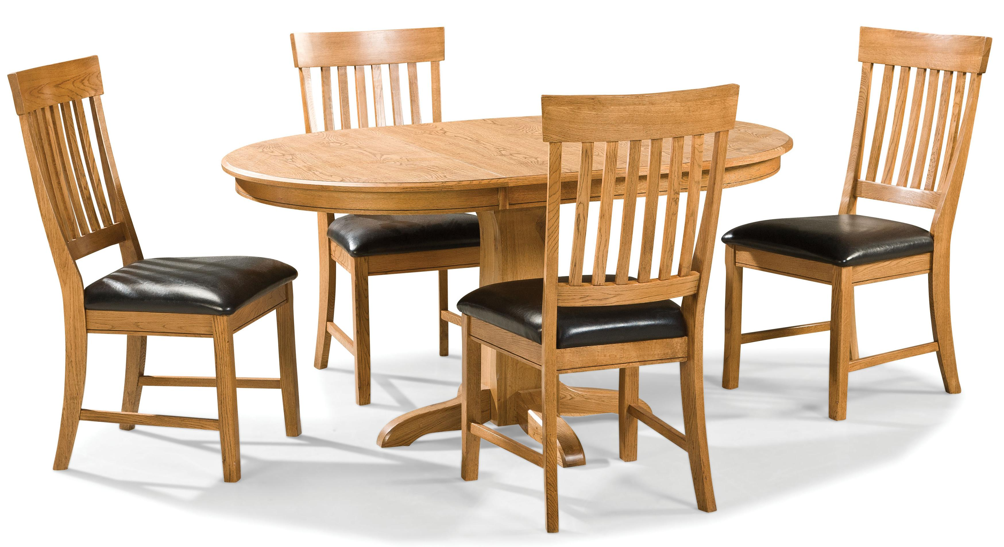 Intercon Family Dining 5 Piece Dining Set - Item Number: FD-TA-L4260-CNT-BSE+TOP+4xCH-180C