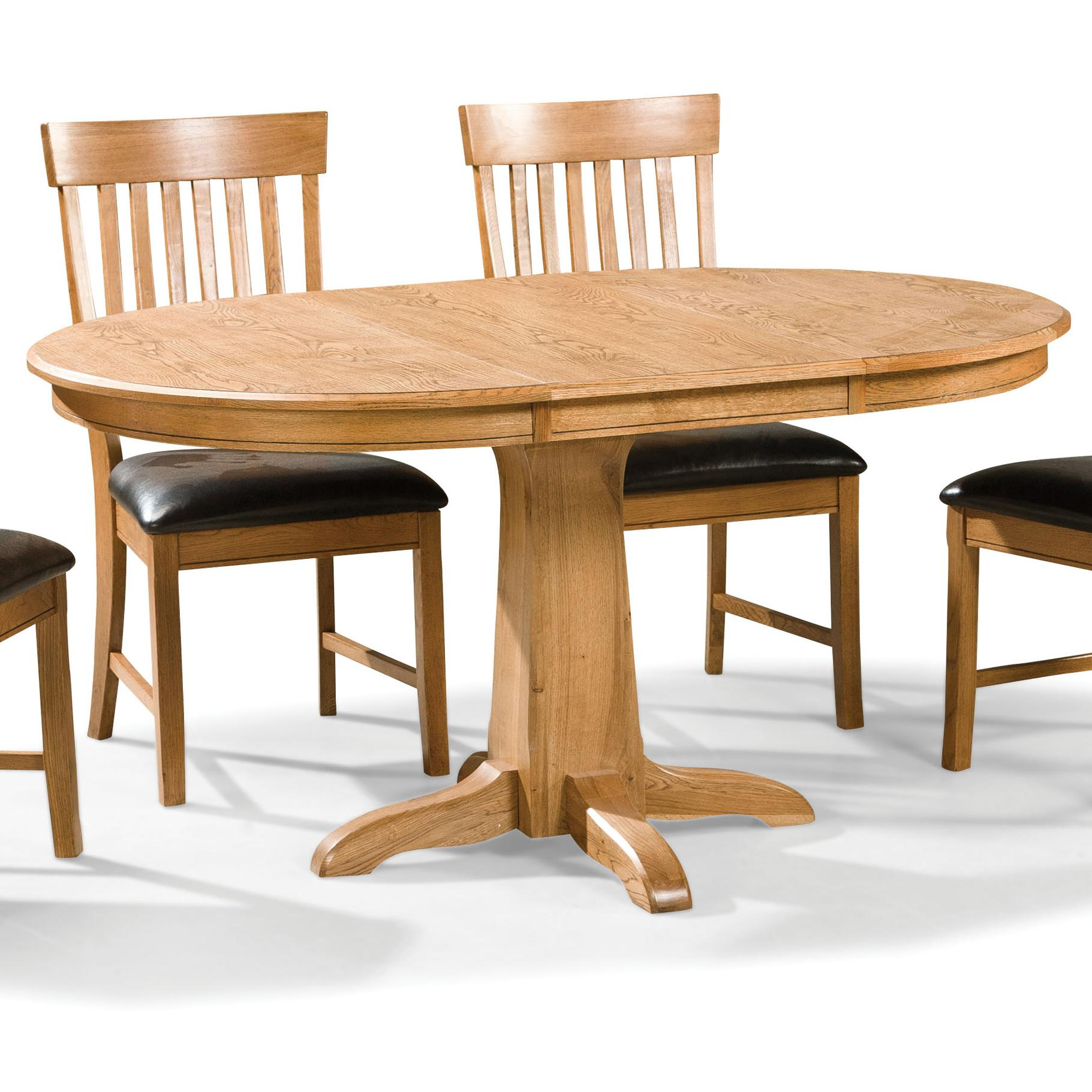 Intercon Family Dining Round Dining Table - Item Number: FD-TA-L4260-CNT-BSE+TOP