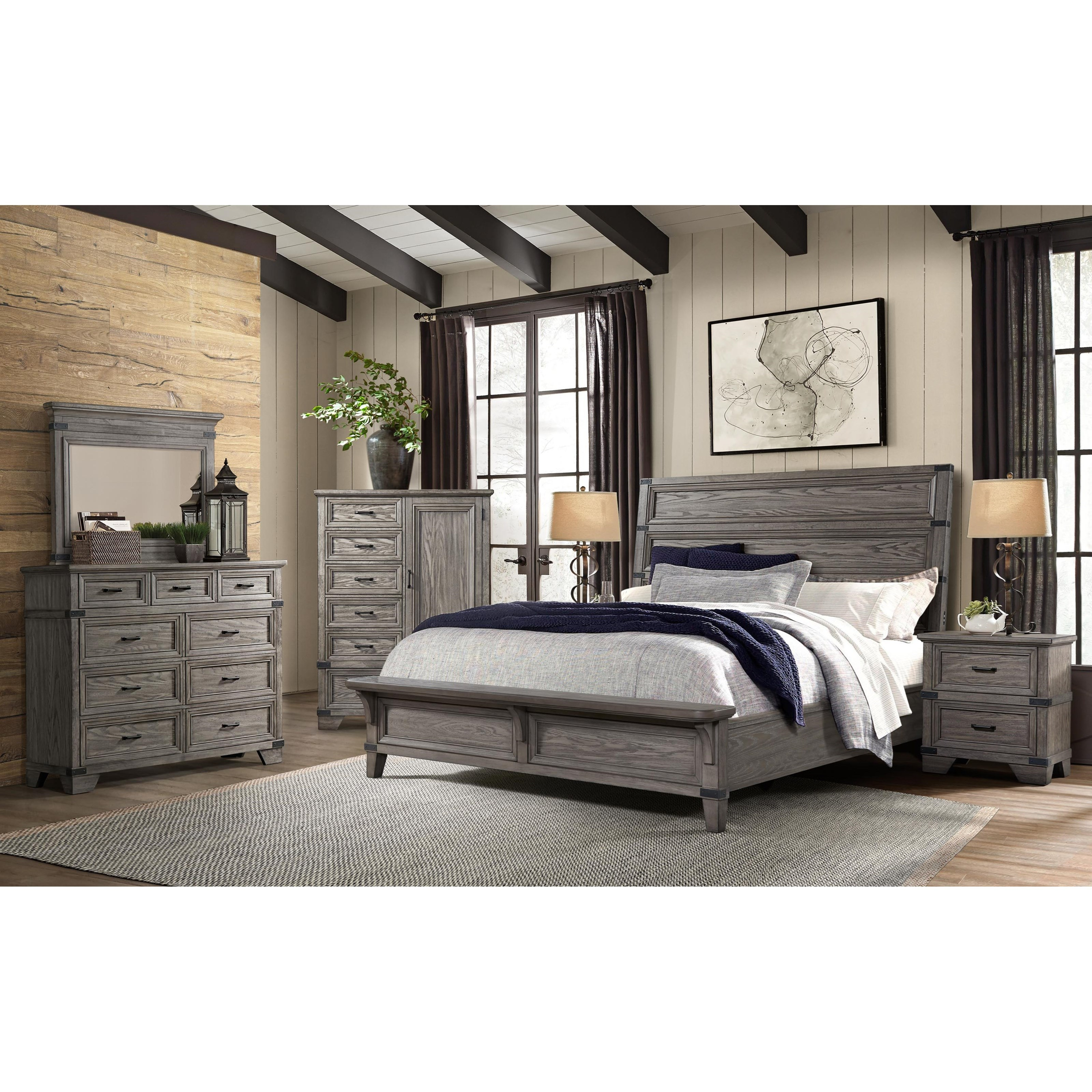 Forge King Bedroom Group by Sussex Bay at Johnny Janosik