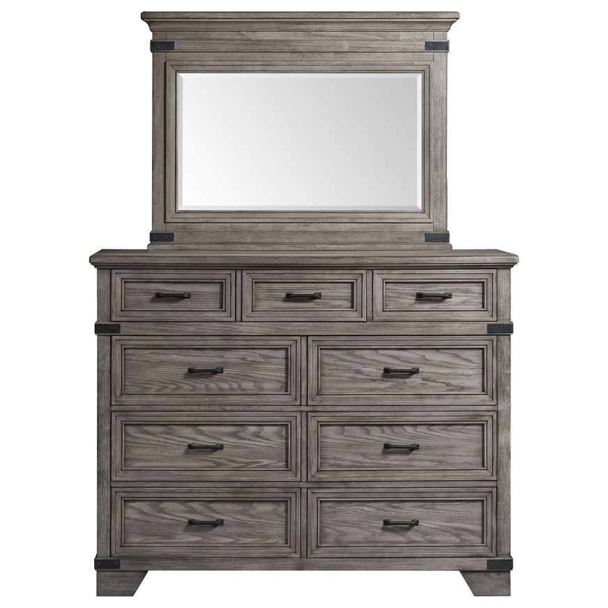 Forge Dresser and Mirror Set by Sussex Bay at Johnny Janosik