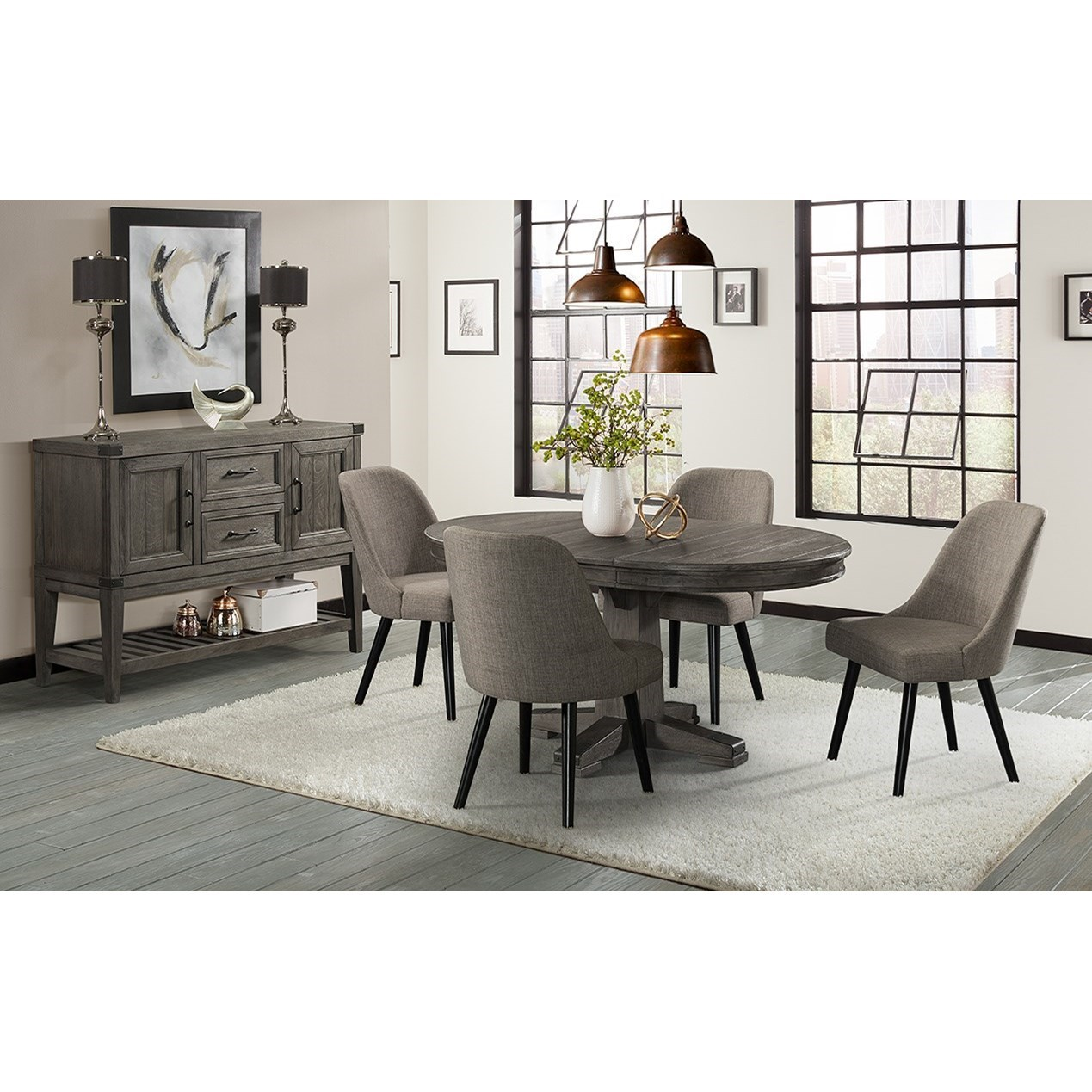 Casual Dining Room Furniture: Intercon Foundry Casual Dining Room Group