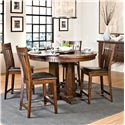 Intercon Hayden Gathering Table & Stool Set - Item Number: 5454G+4xBS-460C+RSE+K24