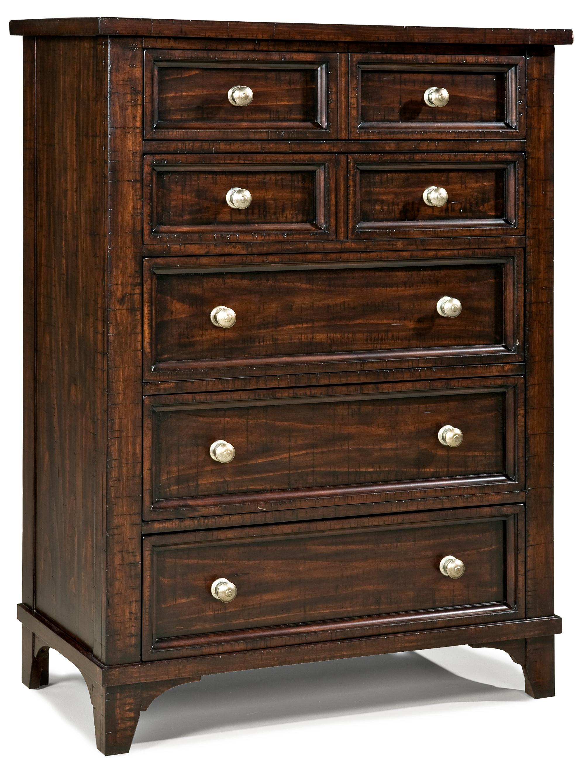 Intercon Hayden 5 Drawer Chest  - Item Number: HY-BR-5905-RSE-C