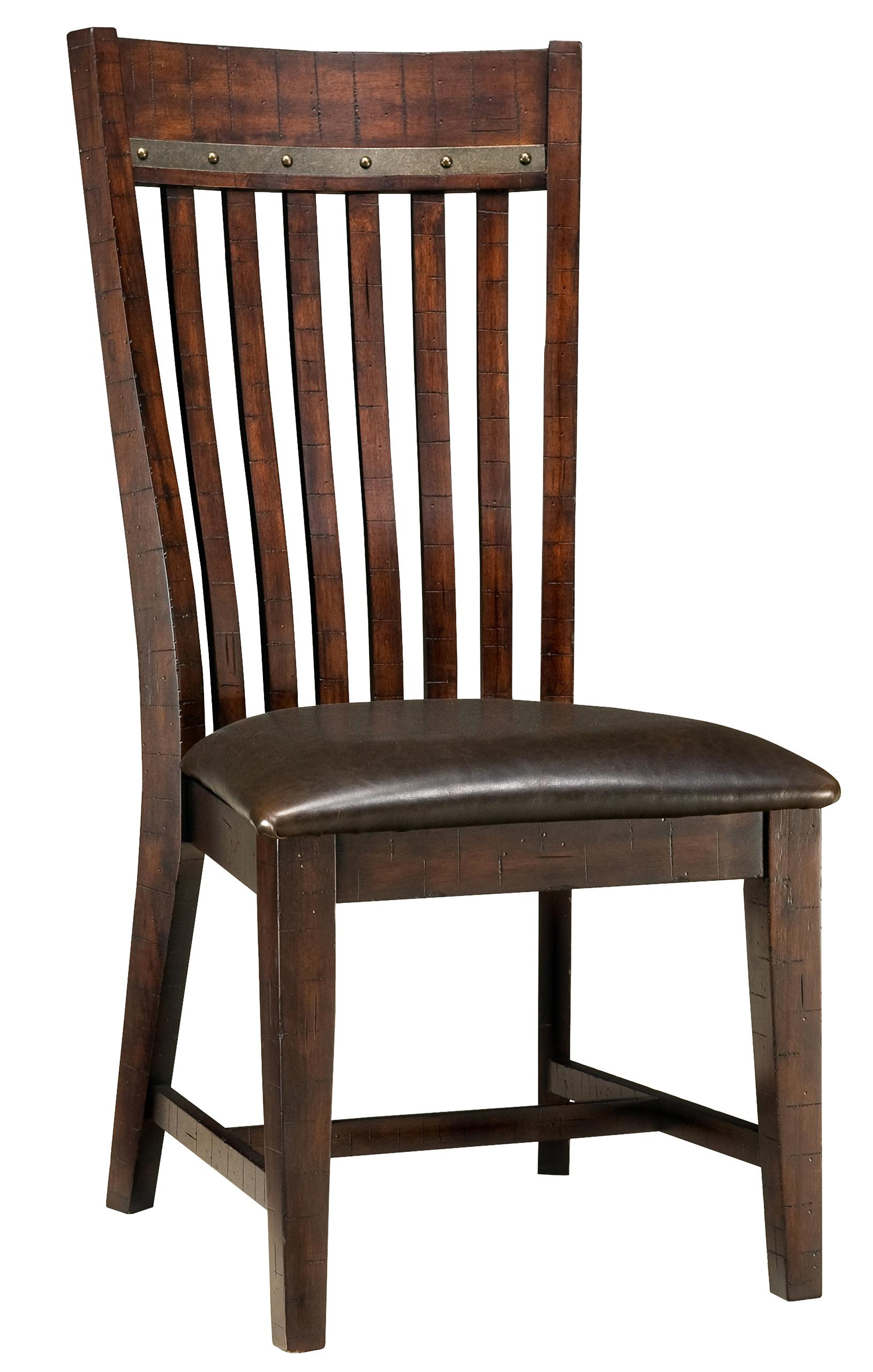 Intercon Hayden Slat Back Side Chair - Item Number: HY-CH-460C-RSE-RTA
