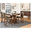 Intercon Hayden Round Gathering Table with Pedestal Base - Shown with Parson Stools & Server